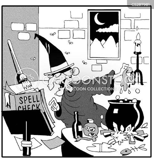 spell checking cartoon