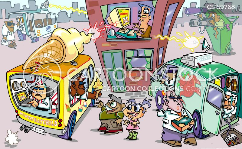 icecream van cartoon