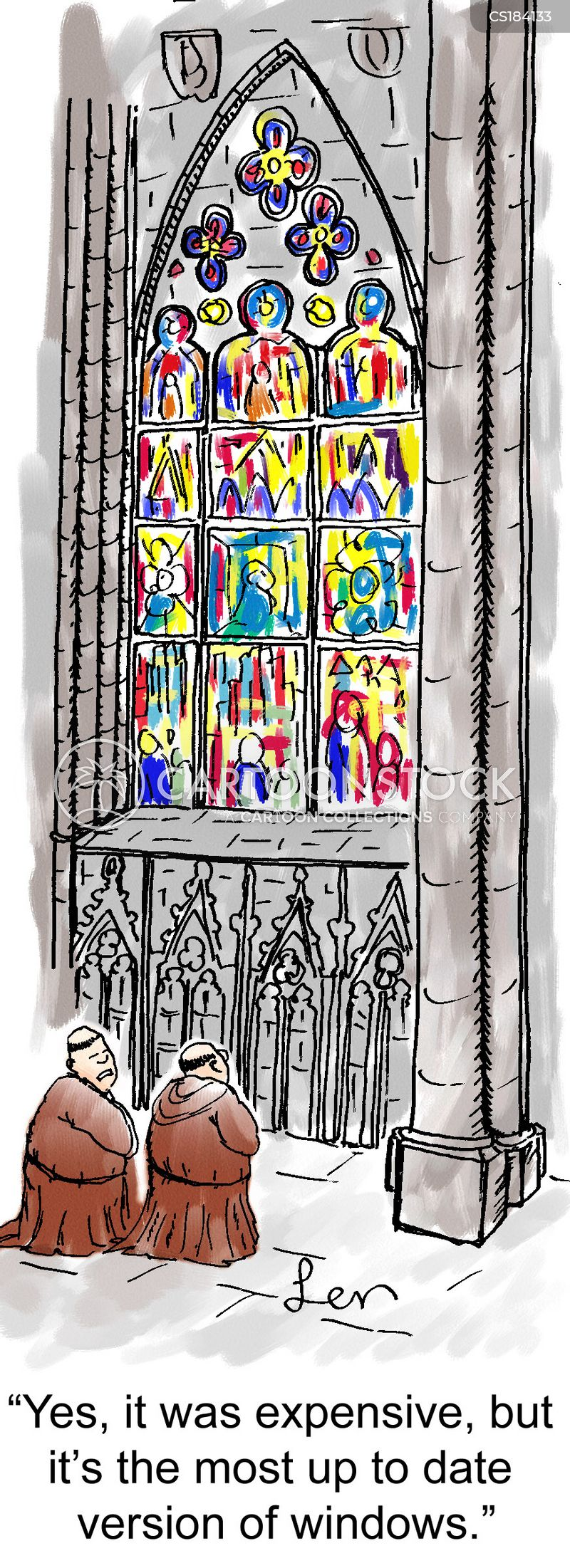 stained glass windows cartoon