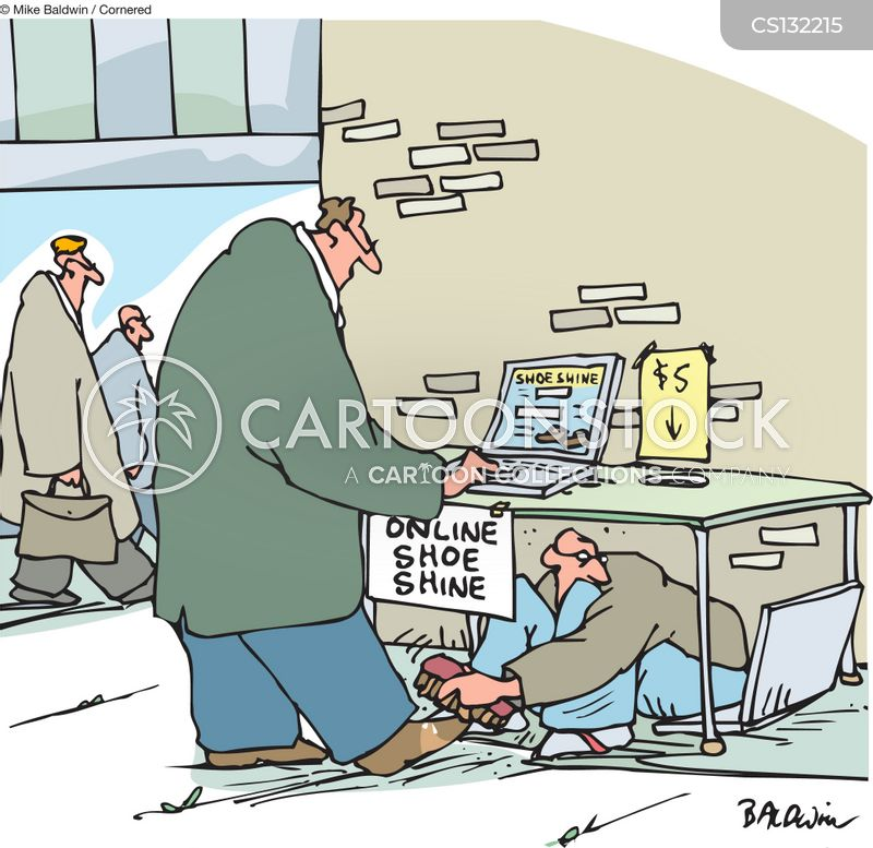shoe shining cartoon