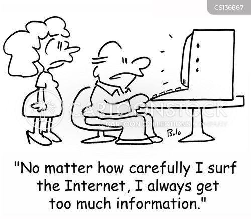 surf the internet cartoon