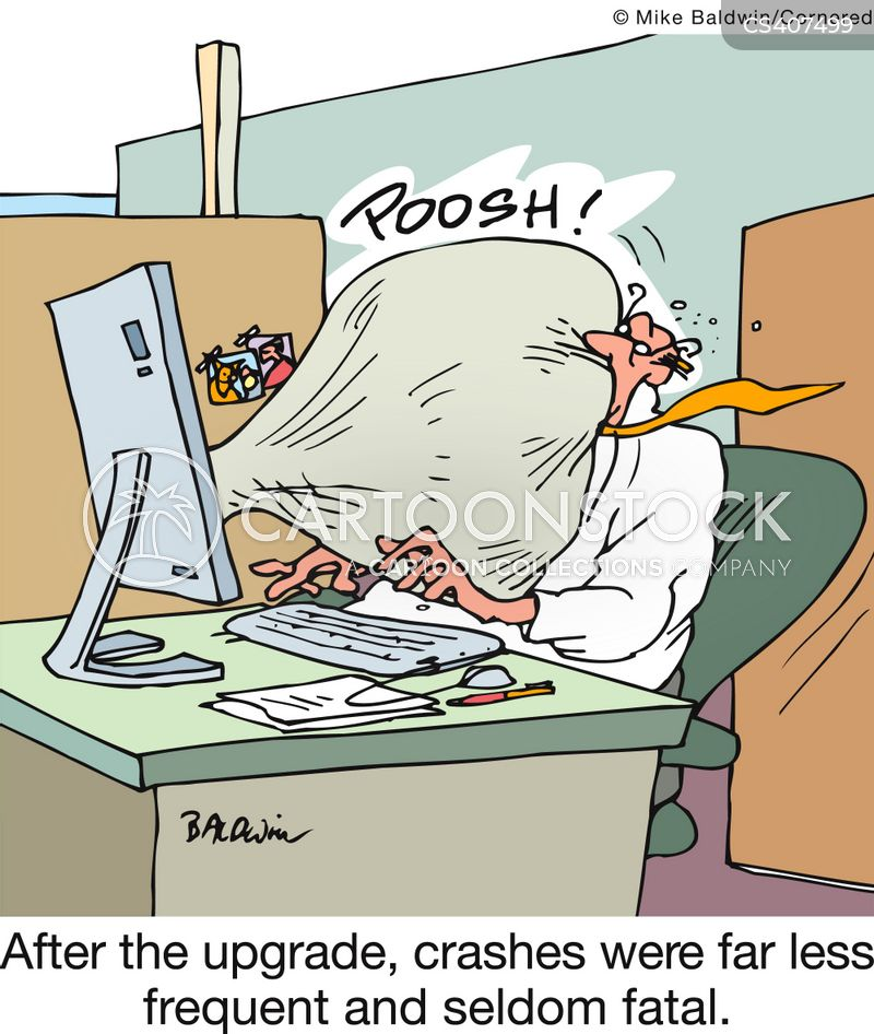 system upgrades cartoon