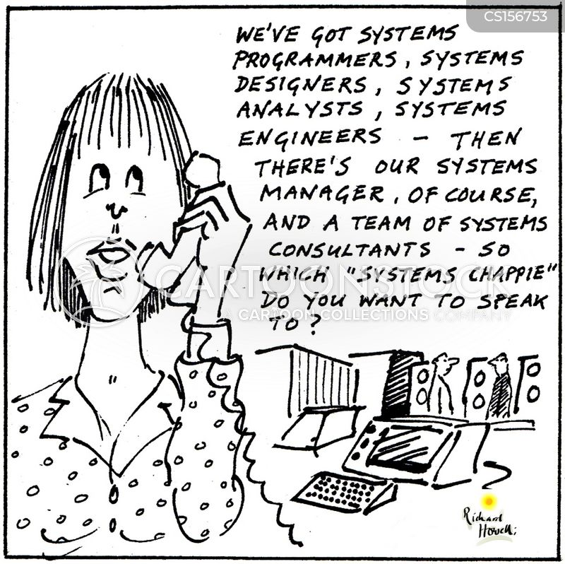 systems designer cartoon