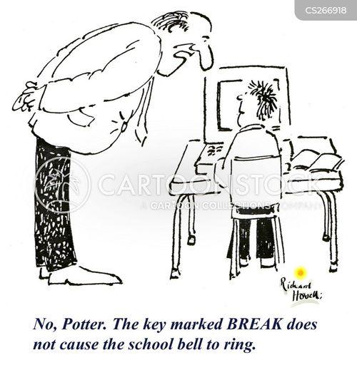 school bell cartoon