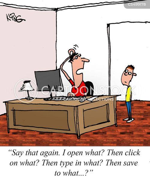 technical helpline cartoon