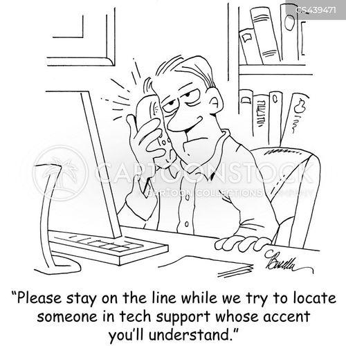 tech supports cartoon