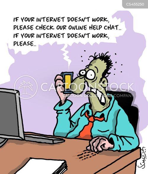 internet problems cartoon