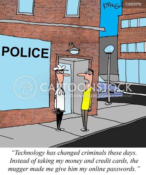 online crime cartoon