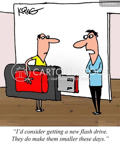 flash drives cartoon