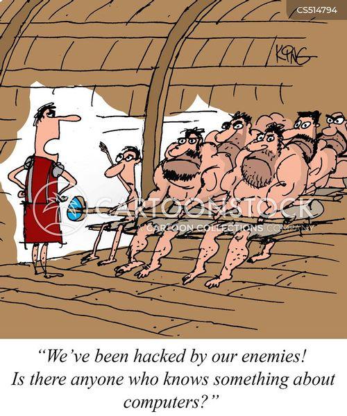 slave galley cartoon
