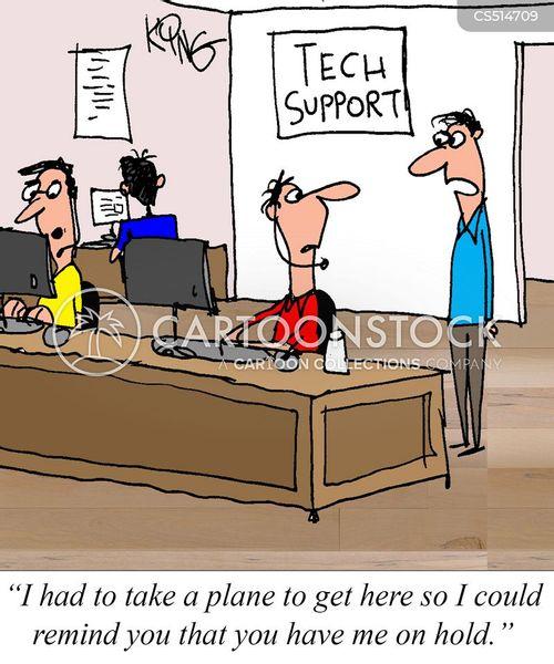 call queue cartoon