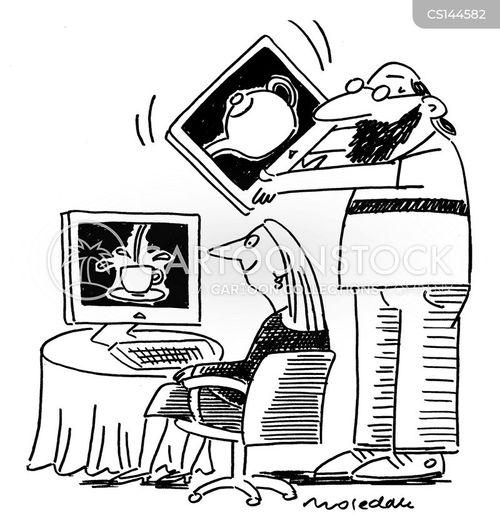 trick computer cartoon
