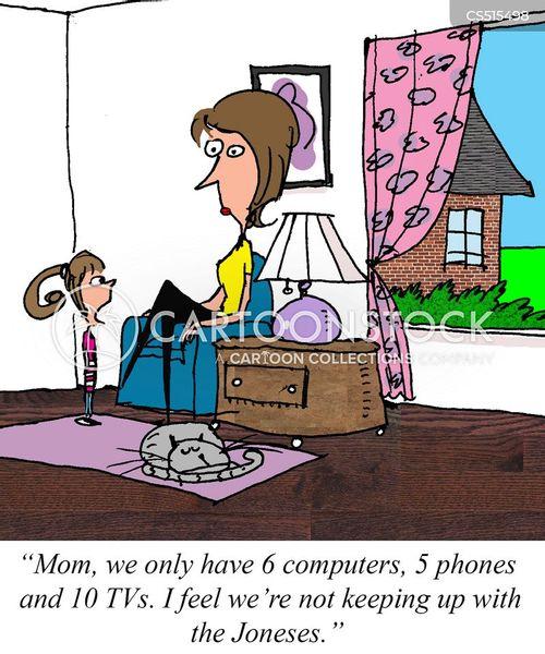 technology addict cartoon