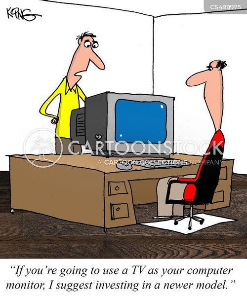 computer monitors cartoon