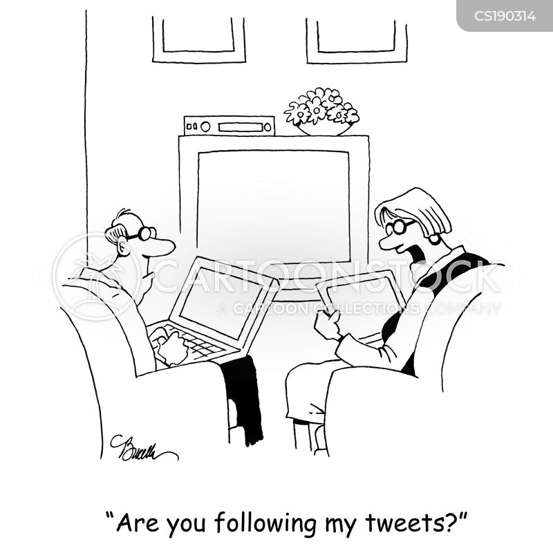 social networkers cartoon