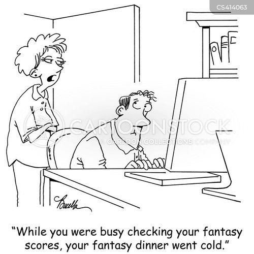 fantasy leagues cartoon