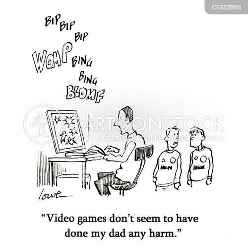 video consoles cartoon