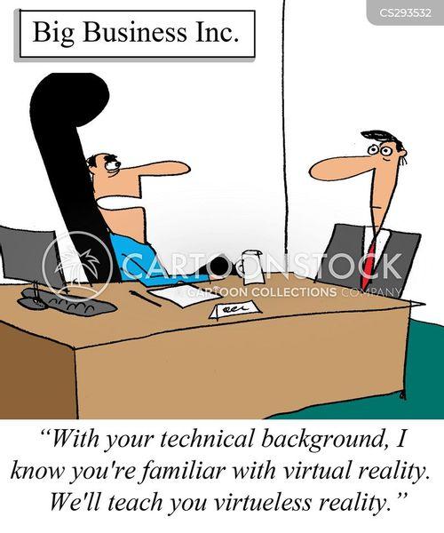 virtual realities cartoon