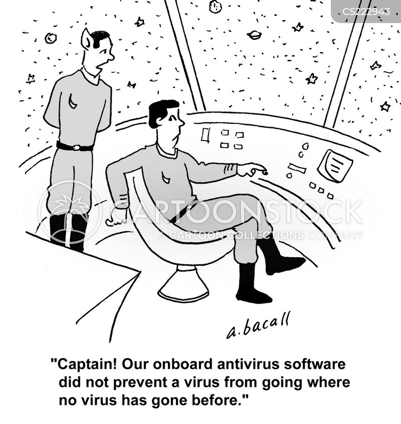 antivirus cartoon