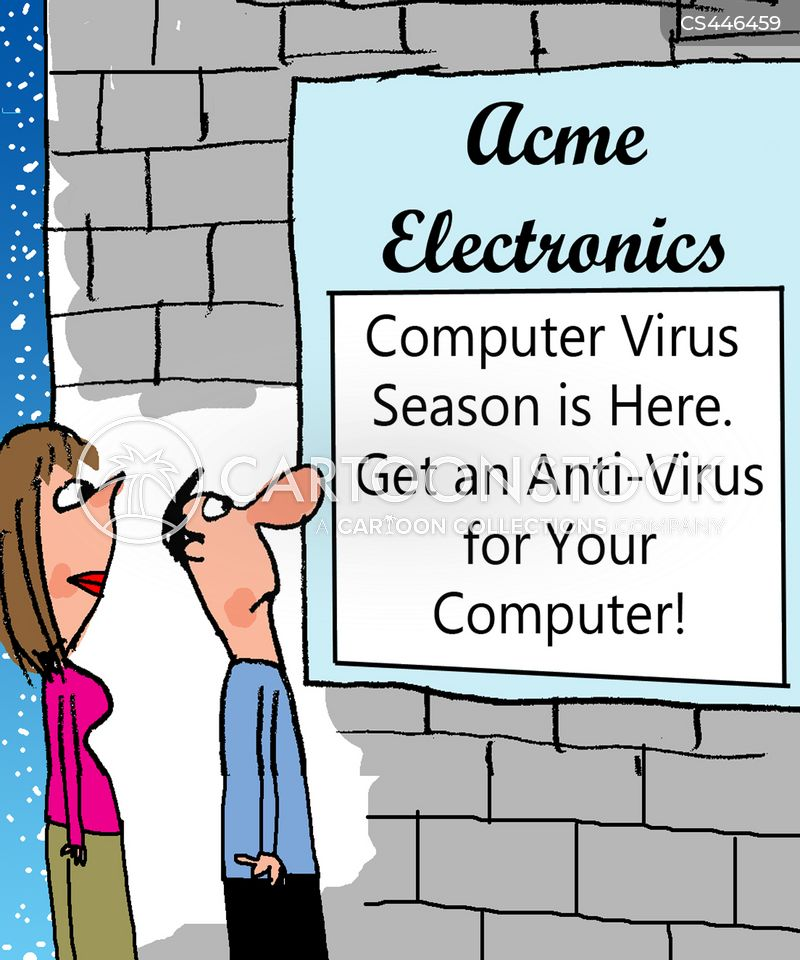 antivirus software cartoon