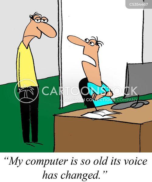 new computer cartoon