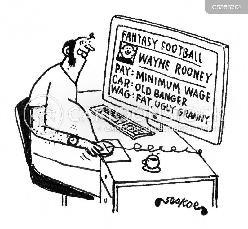 fantasy football cartoon