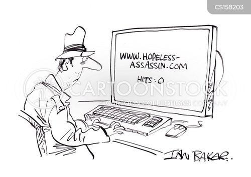 web hits cartoon