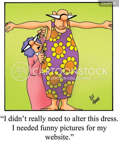 dressmakers cartoon
