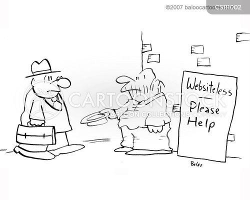 domain names cartoon
