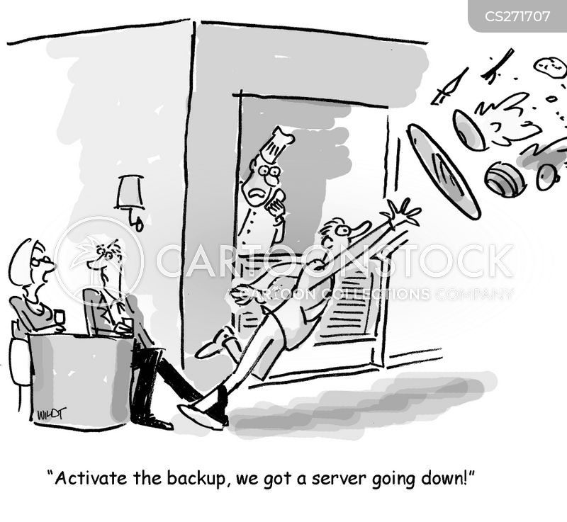 backups cartoon