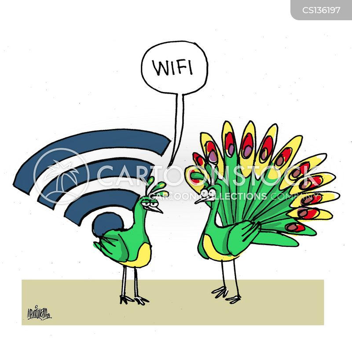 wifi signal cartoon
