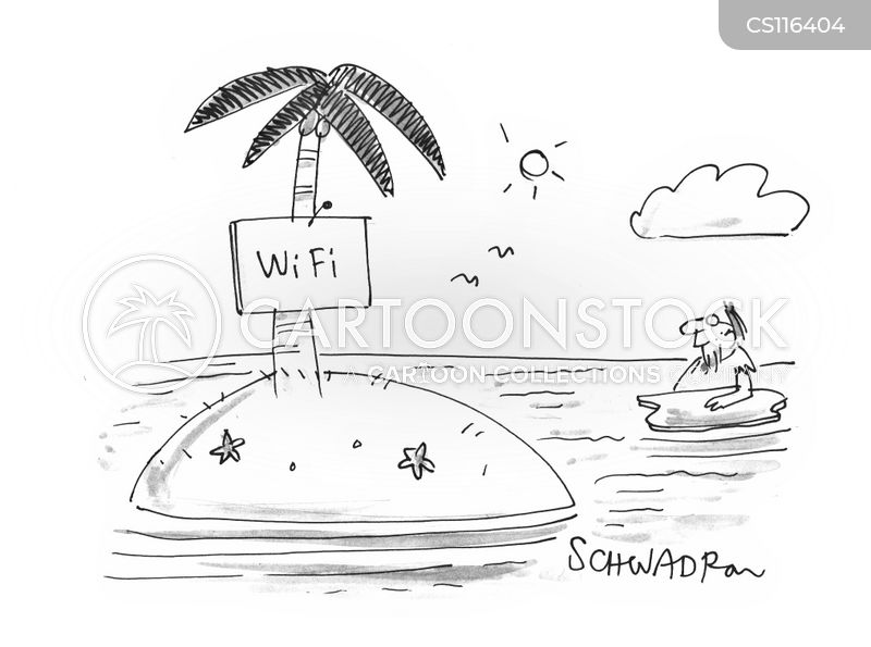 Wifi Cartoon, Wifi Cartoons, Wifi Bild, Wifi Bilder, Wifi Karikatur, Wifi Karikaturen, Wifi Illustration, Wifi Illustrationen, Wifi Witzzeichnung, Wifi Witzzeichnungen