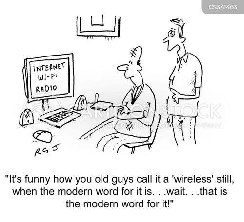 digital radio cartoon