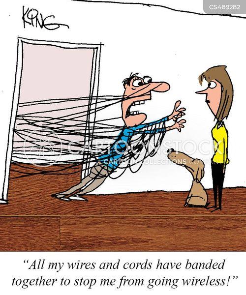 wireless technologies cartoon