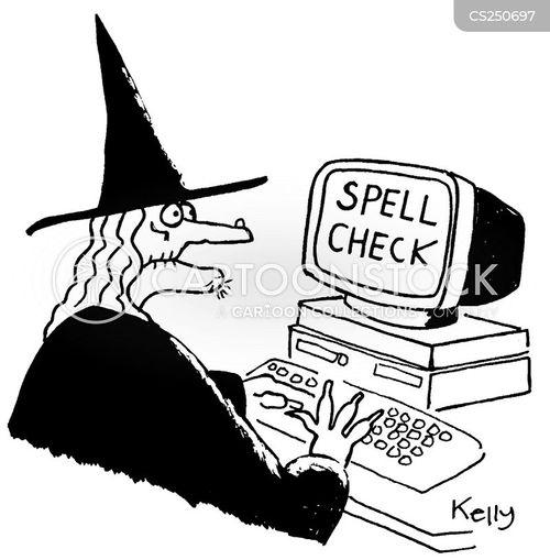 word processors cartoon