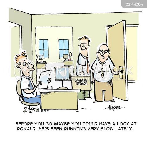 slow workers cartoon