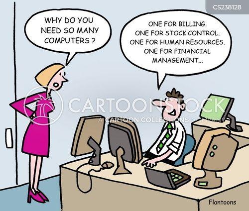 multi-tasker cartoon