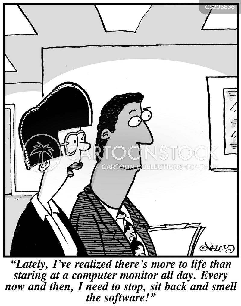 work addictions cartoon