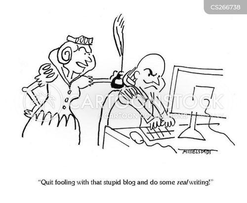 writing plays cartoon