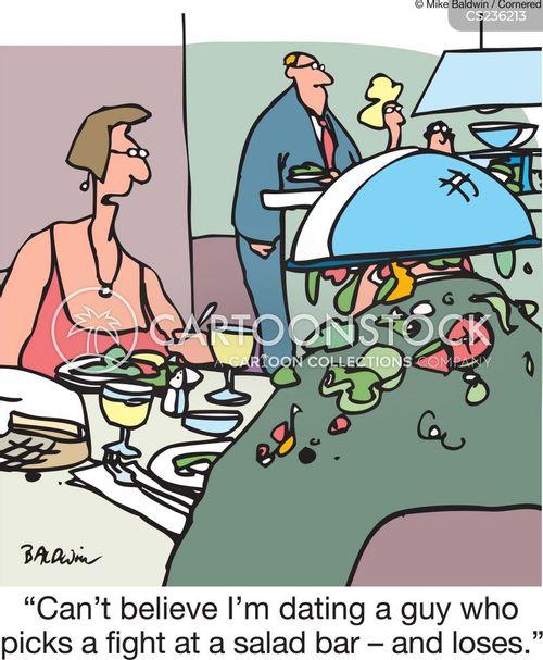 salad bars cartoon