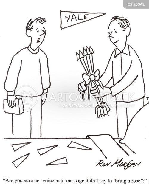 voice mail message cartoon