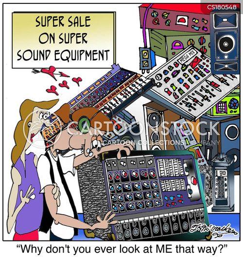 audio equipment cartoon
