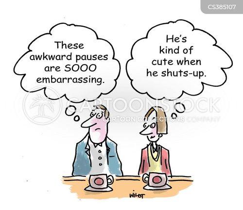 awkward silence cartoon