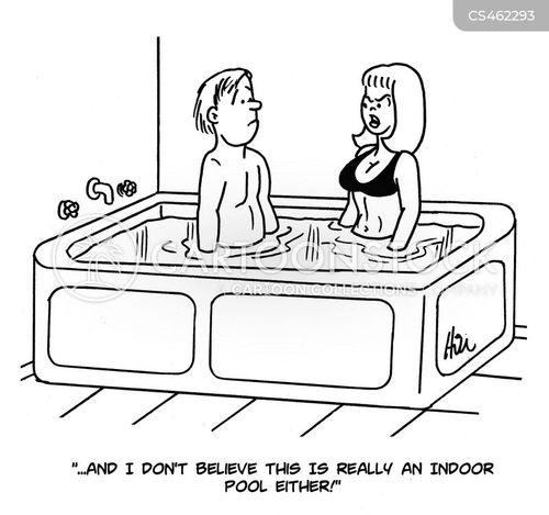indoor pool cartoon