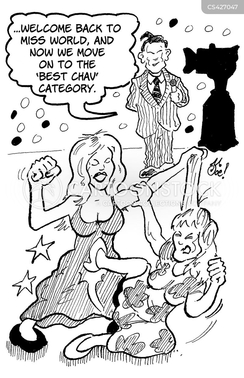 beauty competitions cartoon