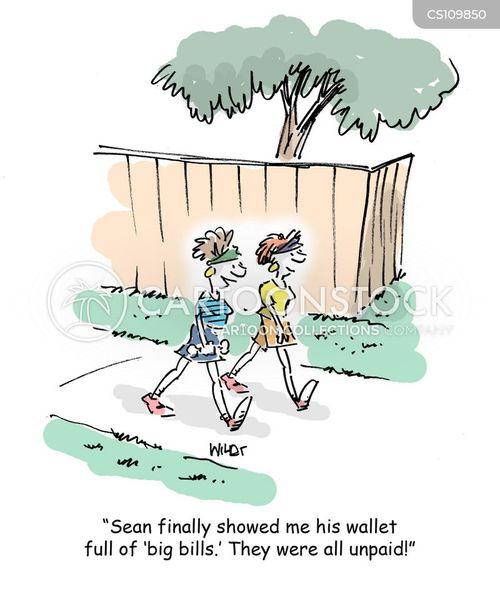 overdue bills cartoon