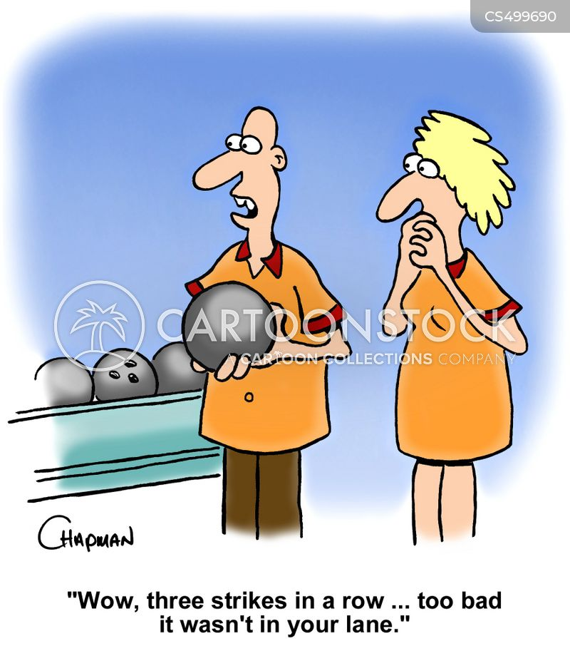 bowling lanes cartoon