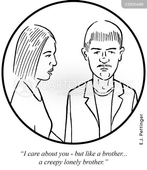 creepy man cartoon
