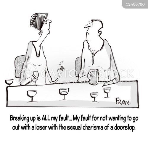 messy breakups cartoon