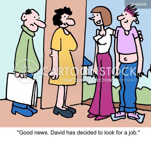 job center cartoon